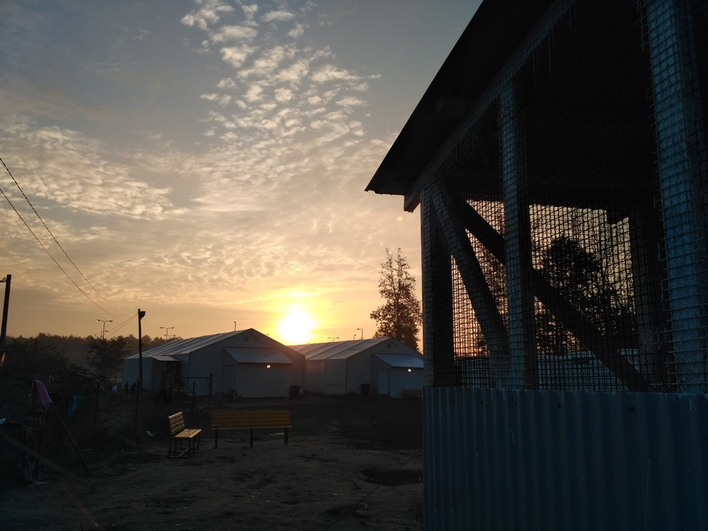 Sunrise in refuge camp after 10 years long night